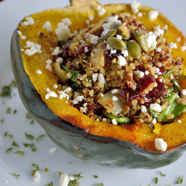 Quinoa Stuffed Acorn Squash Recipe | Yummly