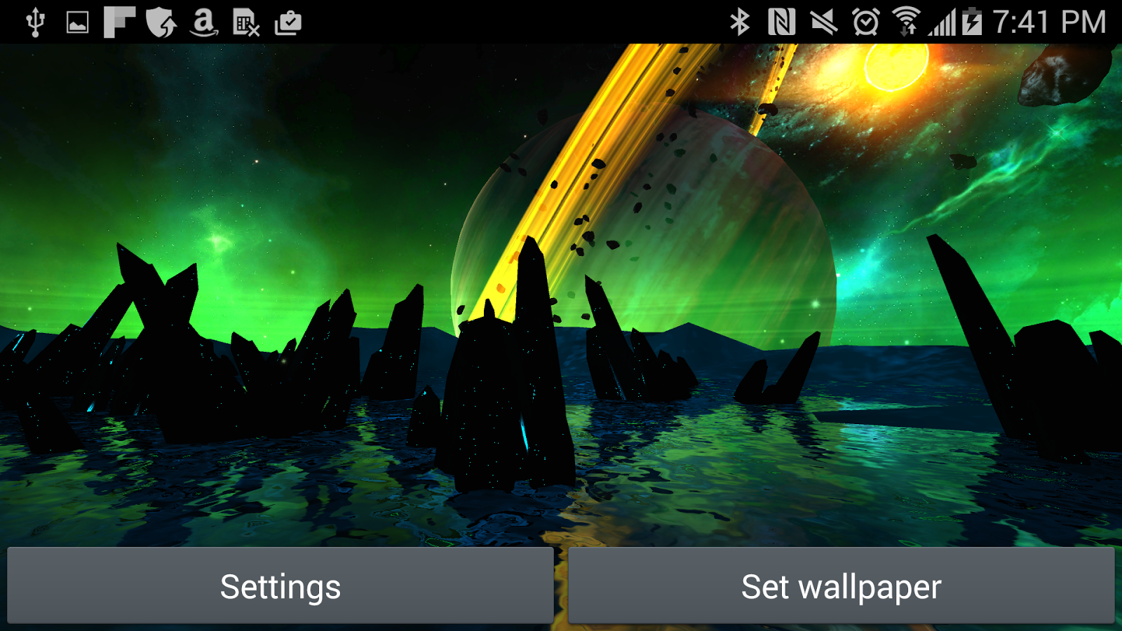 Far Galaxy 3D Live Wallpaper Screenshot 18