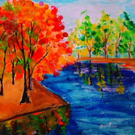 Spring by Ananya Mazumdar - Painting All Painting