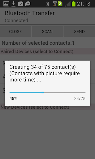 Contacts Xchange Bluetooth - screenshot