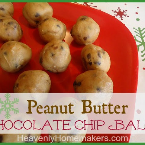 Peanut Butter Chocolate Chip Balls {Christmas Brunch}