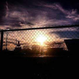 Gridley sunset by Dawn Morri Loudermilk - City,  Street & Park  Skylines