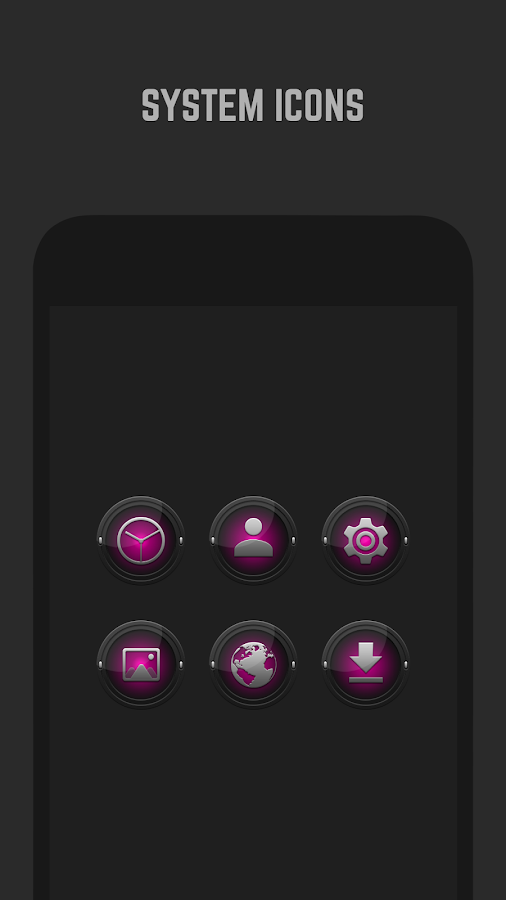 Black and Pink Icon Pack Screenshot 2