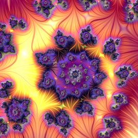 Swirl , Colorful by Cassy 67 - Illustration Abstract & Patterns ( swirl, fractal art, digital art, fractal, flowers, digital, flower )