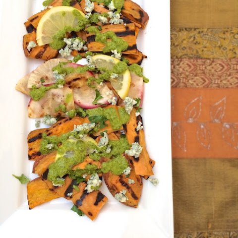 Grilled Root Vegetables with Cilantro Dressing