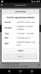 HollyBelle Lashes & Academy - screenshot