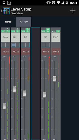 android Mixing Station Qu Pro Screenshot 1