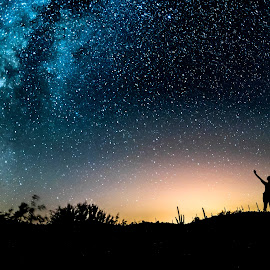 Happy Weekend by Sanjeev Goyal - Landscapes Starscapes ( sky, nikon, milky way, nightscape, stars, galaxy )