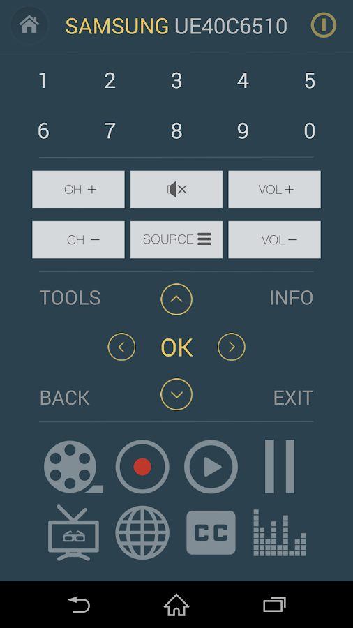 Smart TV Remote for Samsung TV Screenshot 1