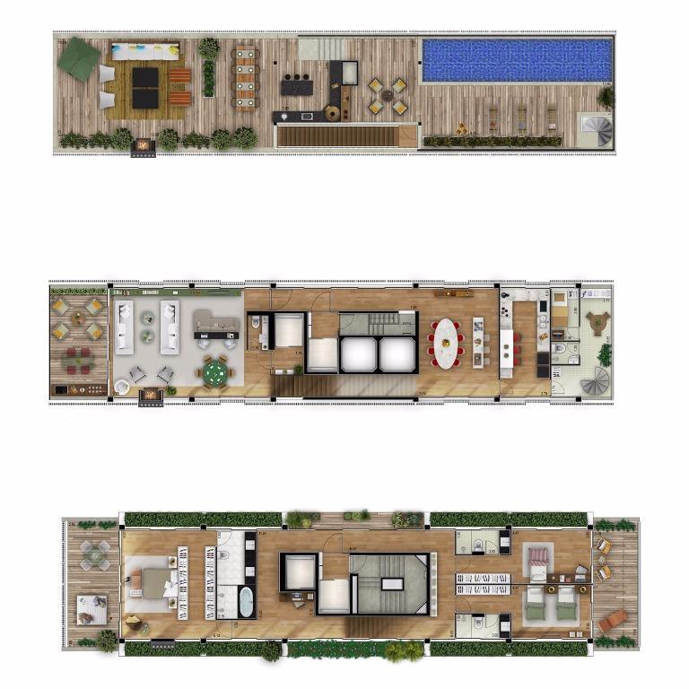 Planta Cobertura Triplex - 605 m²