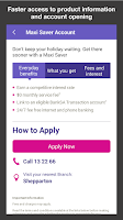Screenshot of Bank of Melbourne Banking