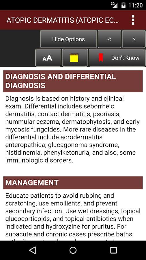 Fitzpatrick's Derm Flash Cards Screenshot 7