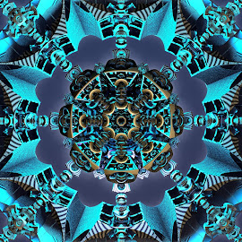 The Battle for Symmetry by Ricky Jarnagin - Illustration Abstract & Patterns ( fractal art, mandelbulb, fractal, abstract, 3d art )