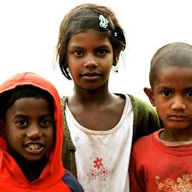 THREE MUSKATEERS by SANGEETA MENA  - Babies & Children Child Portraits