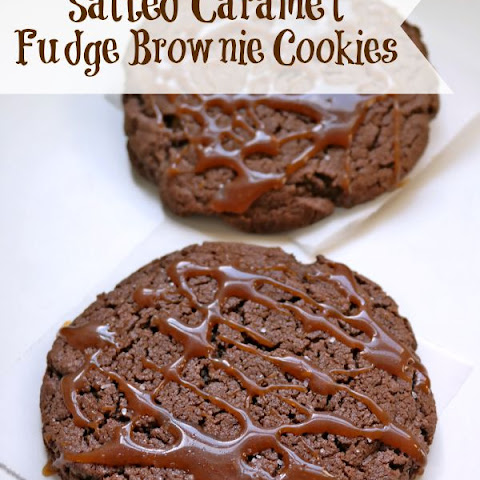 Salted Caramel Fudge Brownie Cookies
