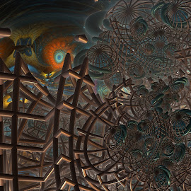Around The Edges by Rick Eskridge - Illustration Sci Fi & Fantasy ( abstract, jwildfire, mb3d, fractal, twisted brush )