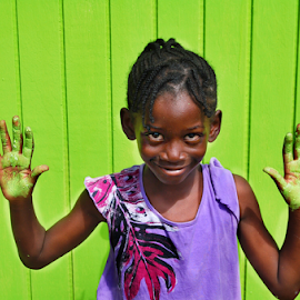 ...growth... by Angeline JoVan - Novices Only Portraits & People ( girl, green, grenada, carriacou, chartruse, smile,  )