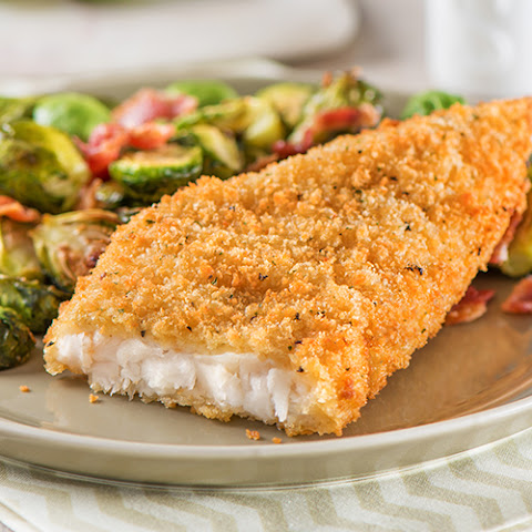 Parmesan Crusted Cod with Roasted Brussel Sprouts