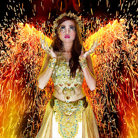 angel of flame by Lie Oktevianus - People Fashion