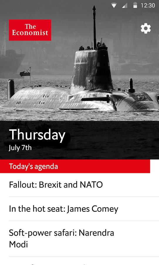 The Economist Espresso Screenshot 0