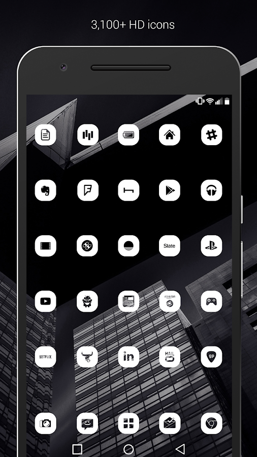 Pasty - White Icon Pack (Pro Version) Screenshot 1