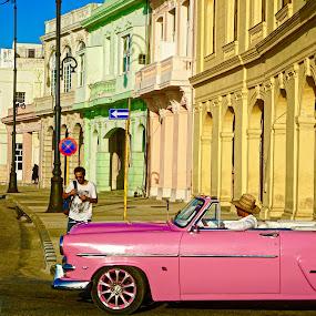 Havana  by Georgios Kalogeropoulos - City,  Street & Park  Neighborhoods ( havana, old building, old town, old car, colorful, colors, cuba )