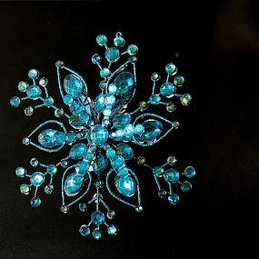 Blue Ornament by Camruin Kilsek - Public Holidays Christmas