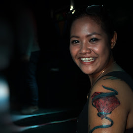 U Have This by Yudo Prasonto - People Body Art/Tattoos ( model, body art, nice, candid, night, tattoo, smile, people, professional people,  )