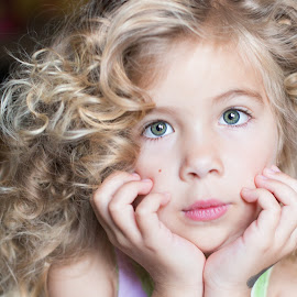 Curls! by Liz Straight - Babies & Children Child Portraits ( portraiture, child, natural light, curly, girl, indoor, curls, child portrait, children, portrait )