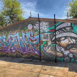 Roosevelt Row graffiti mural  Phoenix Arizona by Paul Gibson - City,  Street & Park  Street Scenes ( hdr, graffiti, street art, phoenix, street photography )