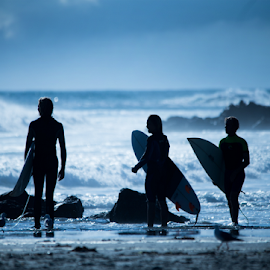 Dawn Surf by Trevor Bond - Sports & Fitness Surfing ( mnt maunganui, surfing, nz )