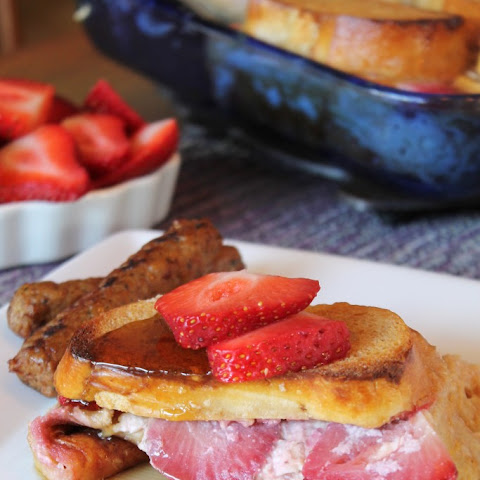 Baked Strawberries and Cream French Toast