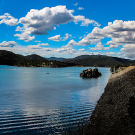 Pactola Reservoir by Lacey Trigg - Landscapes Waterscapes ( water, reservoir, sky, america, south dakota )