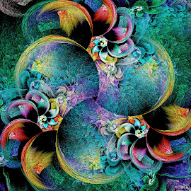 Circlized Machine by Peggi Wolfe - Illustration Abstract & Patterns ( abstract, unique, pattern, bright, color, illustration, unusual, fun, fractal, digital )