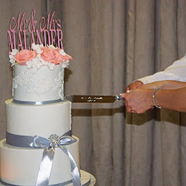 Cutting the Cake by Ingrid Anderson-Riley - Wedding Reception