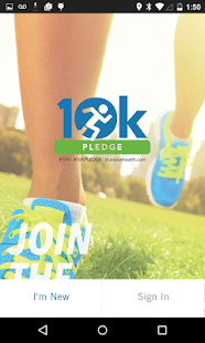10k PLEDGE by TruVision Fitness app screenshot for Android