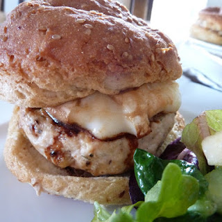 Brie and Apple Turkey Burger