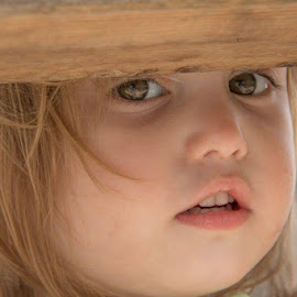 Those eyes by Kimberly Hunker - Babies & Children Children Candids ( fence, girl, eyes )