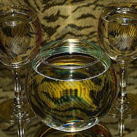 three glass by LADOCKi Elvira - Artistic Objects Furniture