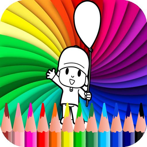 coloring book for pocoyoo