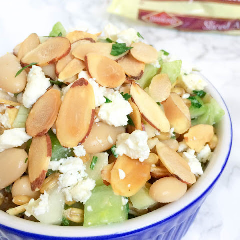 Wheat Berry Salad with White Beans, Feta and Toasted Almonds