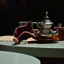 Tea in the shade by Steve Bennett - Novices Only Objects & Still Life ( cup, table, shade, tea, pot )