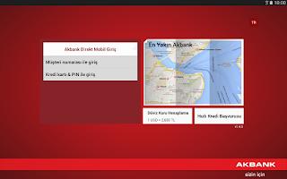 Screenshot of Akbank Direkt Tablet