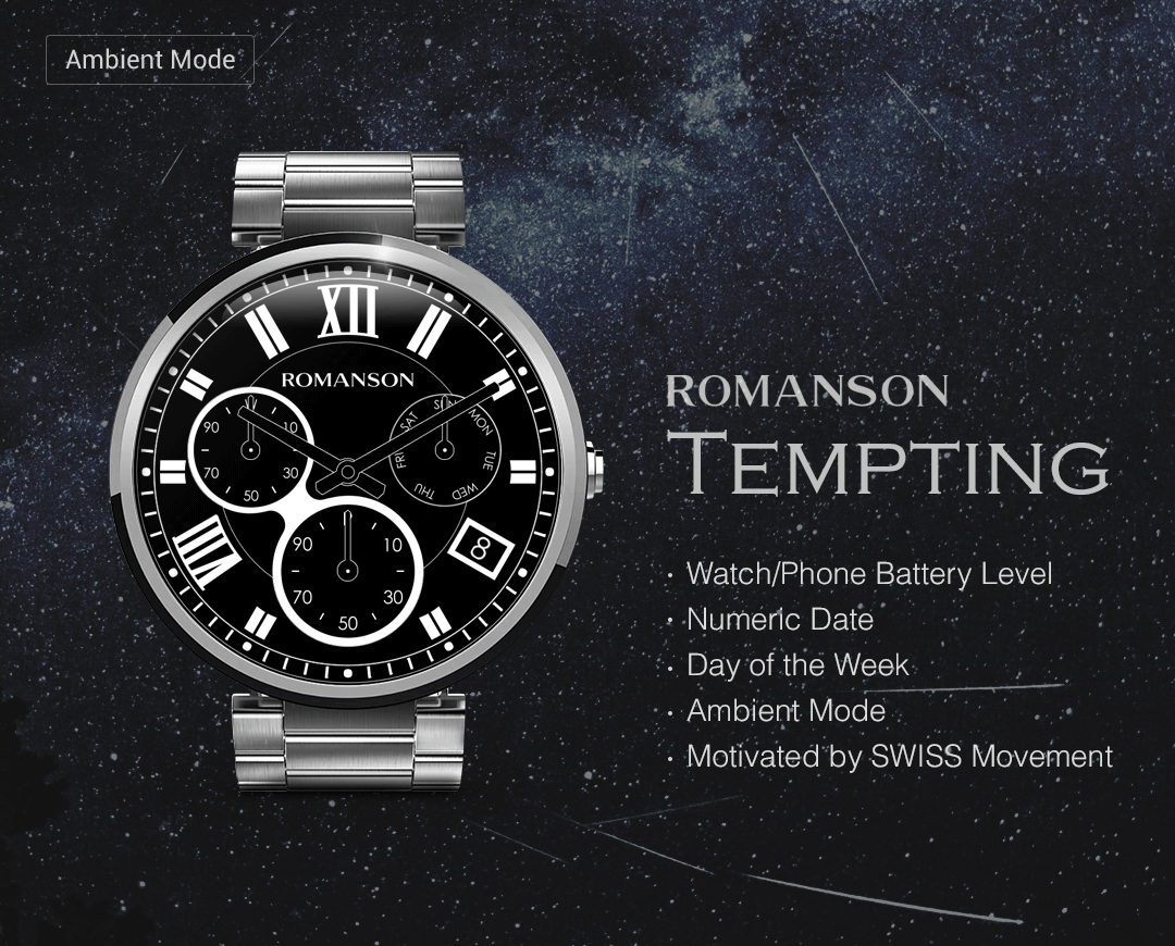 Tempting watchface by Romanson Screenshot 3