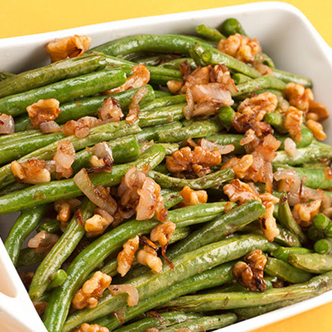 Walnut-Shallot Green Beans