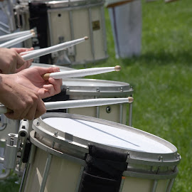 Drumline by Jim Signorelli - People Musicians & Entertainers ( marching, marching band, drumline, drummers, drums, playing drums )