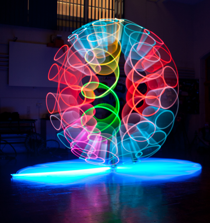 Light Horns by Andro Andrejevic - Abstract Light Painting ( painting by light, light painting, indoors, colours )