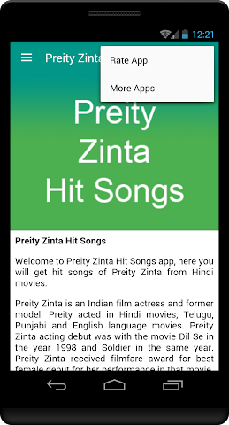 android Preity Zinta Hit Songs Screenshot 3
