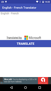 English to French Translator - screenshot