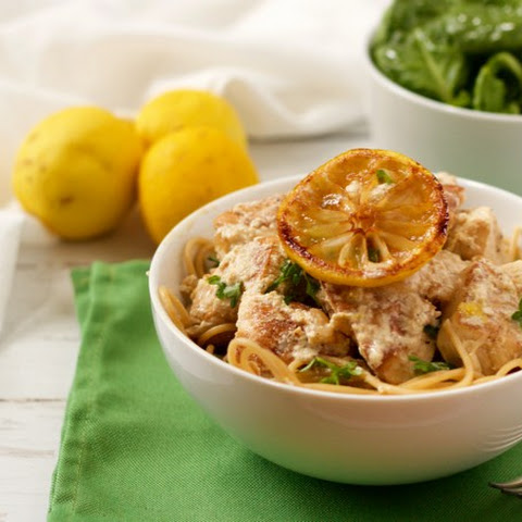 Creamy Lemon Chicken Spaghetti